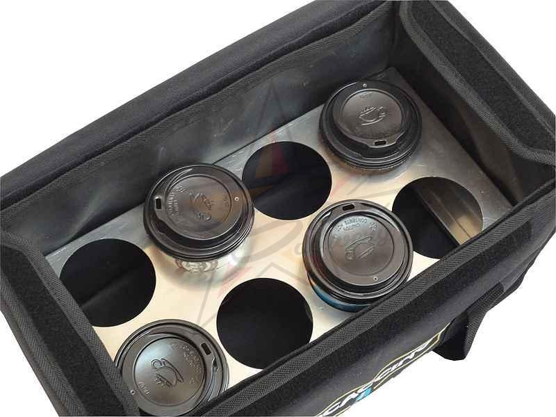 Heat-insulating delivery boxes - Coffee - Thermobag with aluminum rack for 8 coffees