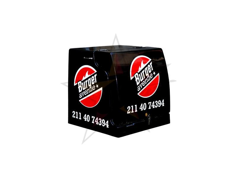 Polyester delivery boxes - With three-layer insulation - Giga Burger